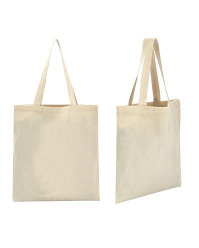 Katoenen tas met lange hengsels