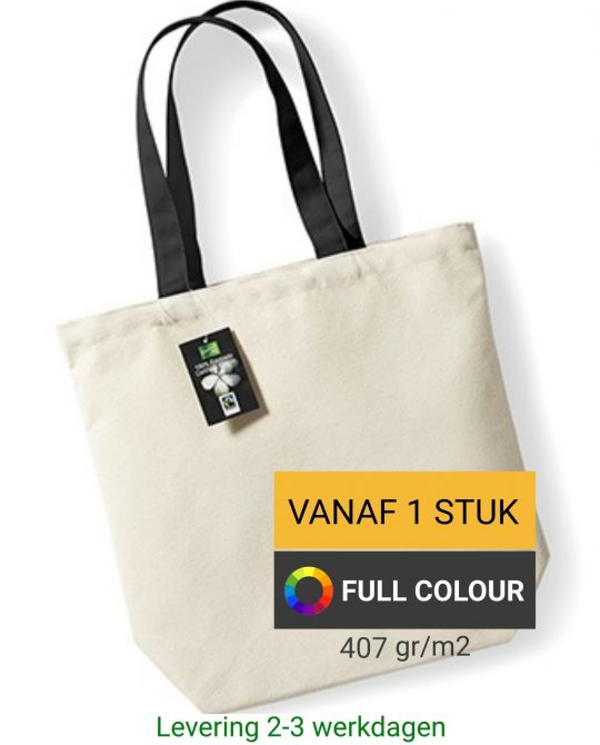fairtrade canvas tas bedrukken