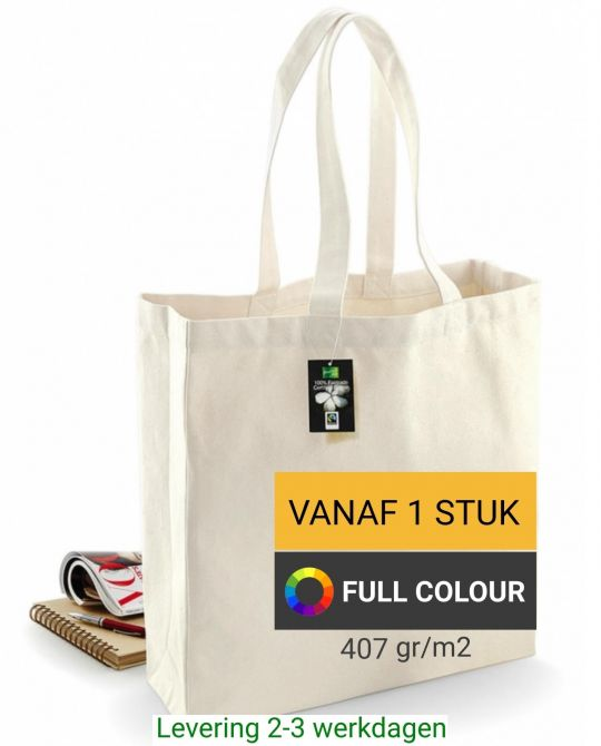 fairtrade tas bedrukken