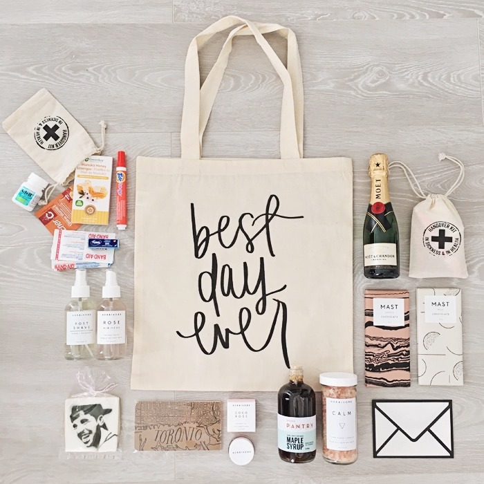 bruiloft welcom goodie bag