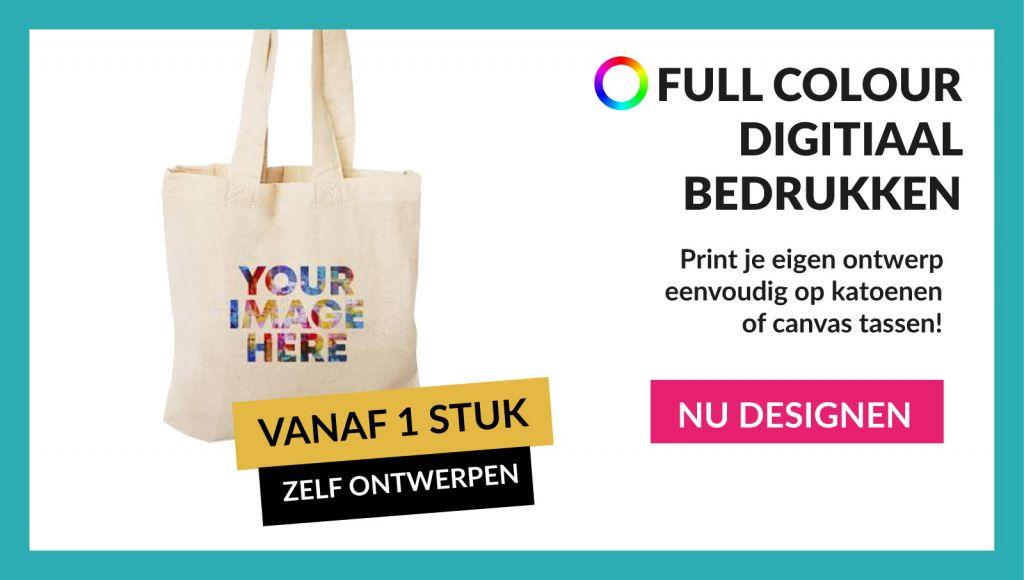 Welp Katoenen tassen bedrukken | 2 werkdagen | Full colour vanaf 1 stuk KG-92