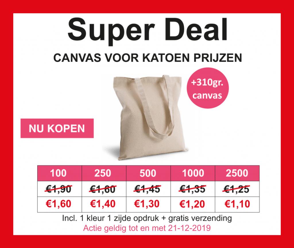 goedkoop canvas tassen bedrukken