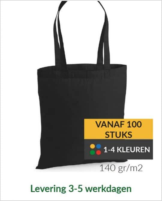 Katoenen tassen bedrukken vanaf 100 stuks