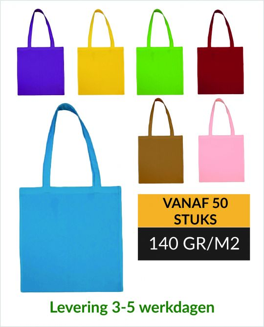 Katoenen tassen in kleur